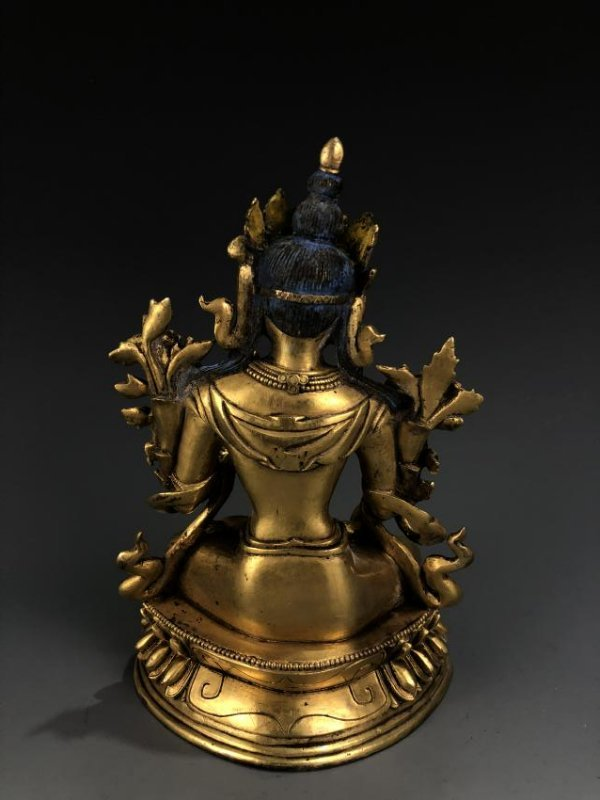 Gilt Bronze Figure of A Tara - 4
