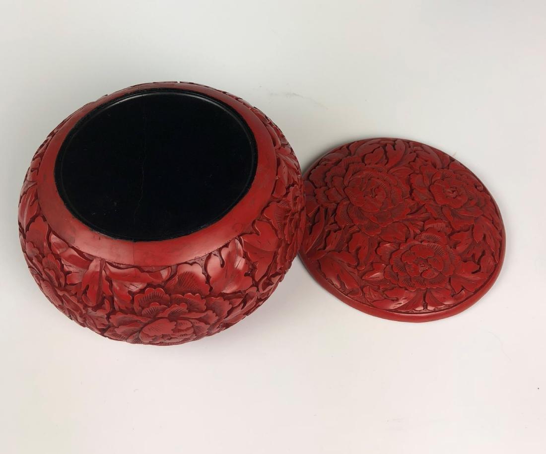cinnabar circular box with cover - 7