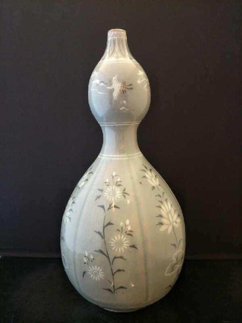 Korean Porcelain Double Gourd  Vase