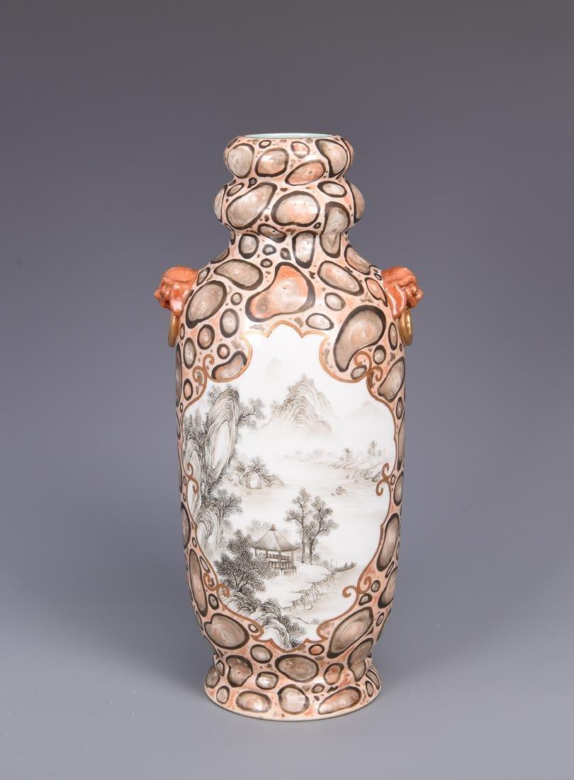 Korean Porcelain Vase with Mark - 8