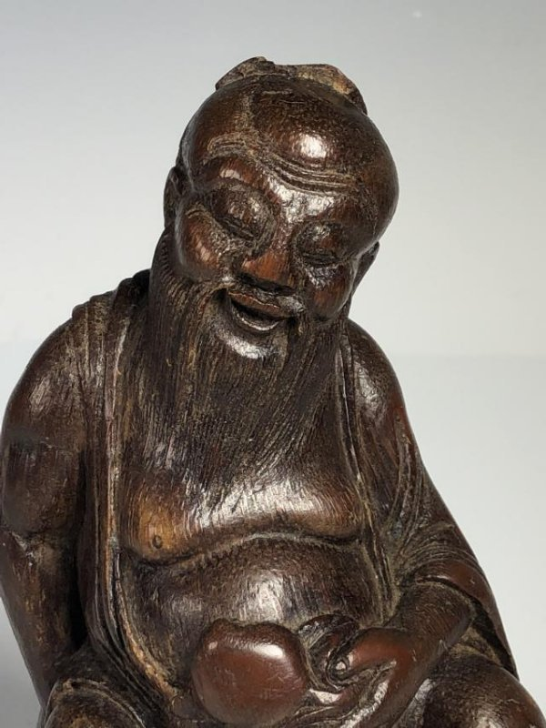 Carved Bamboo Figure of Scholar - 2
