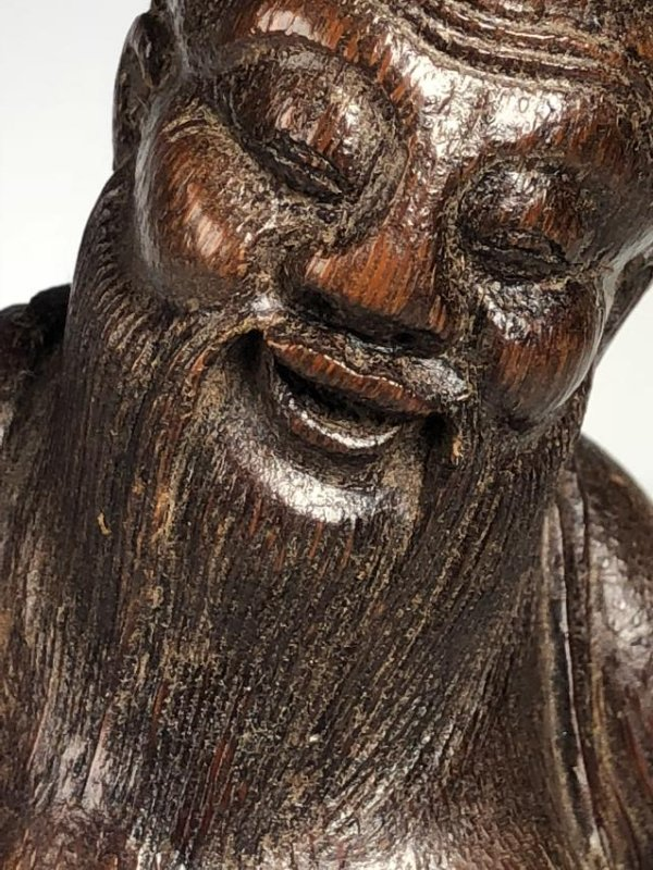 Carved Bamboo Figure of Scholar - 3