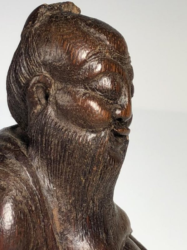 Carved Bamboo Figure of Scholar - 4