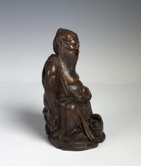 Carved Bamboo Figure of Scholar - 9