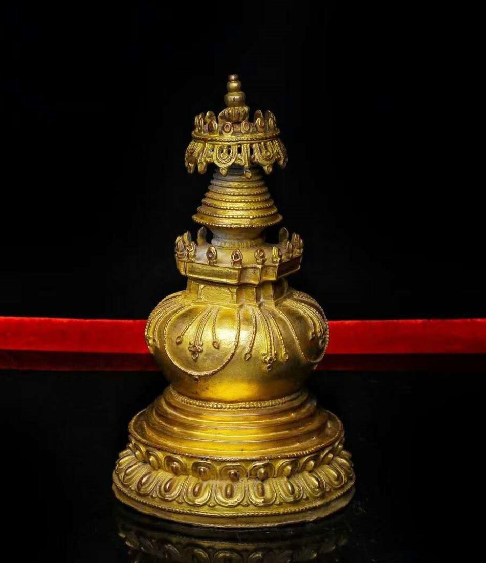 Gilt Bronze Stupa