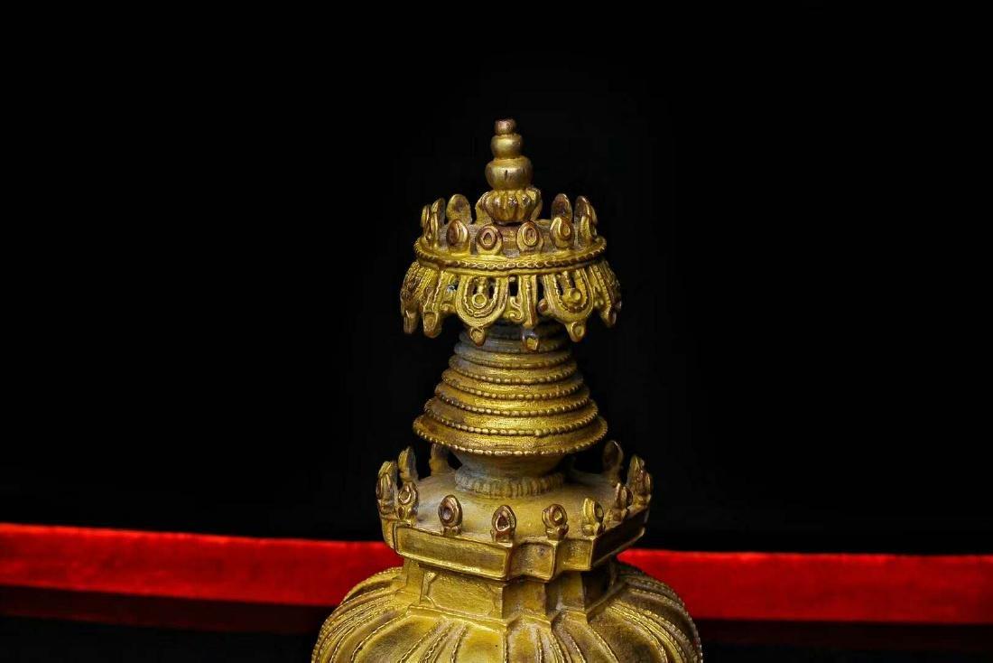 Gilt Bronze Stupa - 3