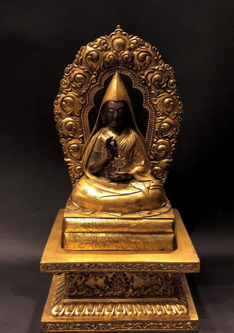 A Gilt Bronze Figure Box With Mark