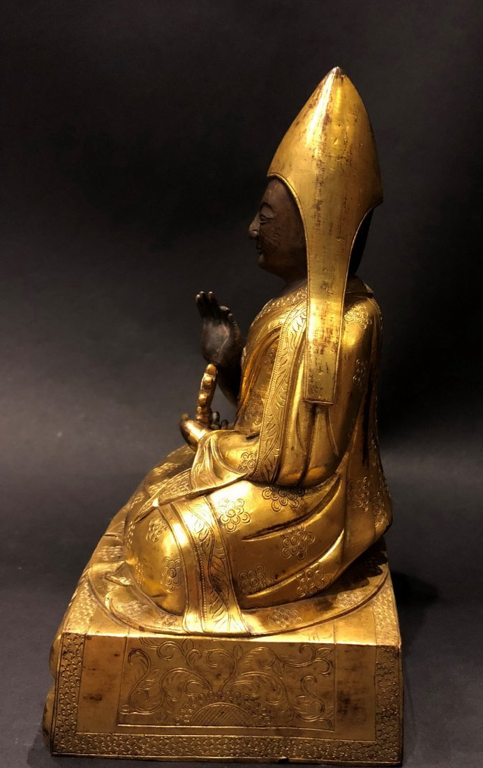 A Gilt Bronze Figure Of Buddha - 4
