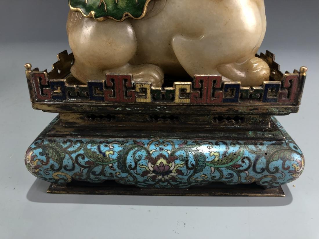 Jade Guardian Dog with Eight Arm Deity on Alter - 9