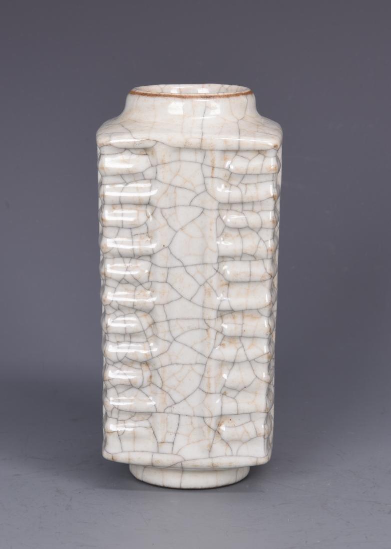 Porcelain GU Style Cong Vase - 3