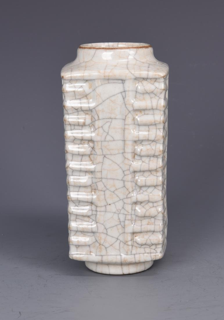 Porcelain GU Style Cong Vase - 4