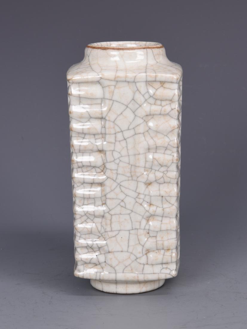 Porcelain GU Style Cong Vase - 5