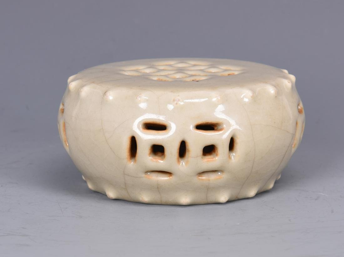 Glazed Porcelain Circular Alter with Mark - 4