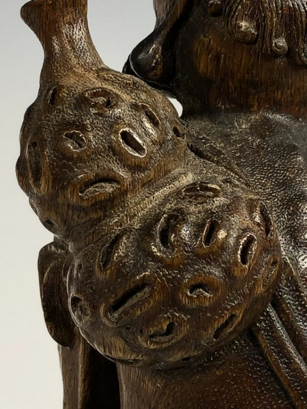 Agar Wood Carving of Scholar - 10