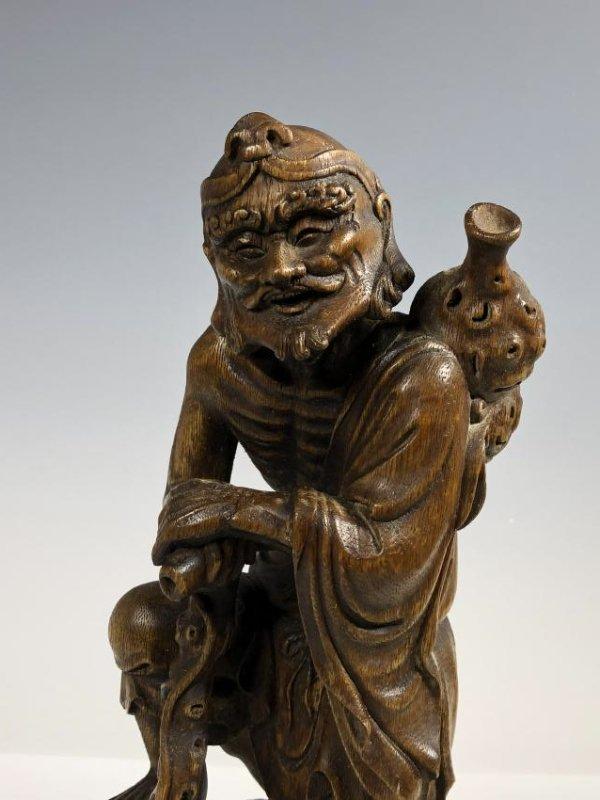 Agar Wood Carving of Scholar - 2