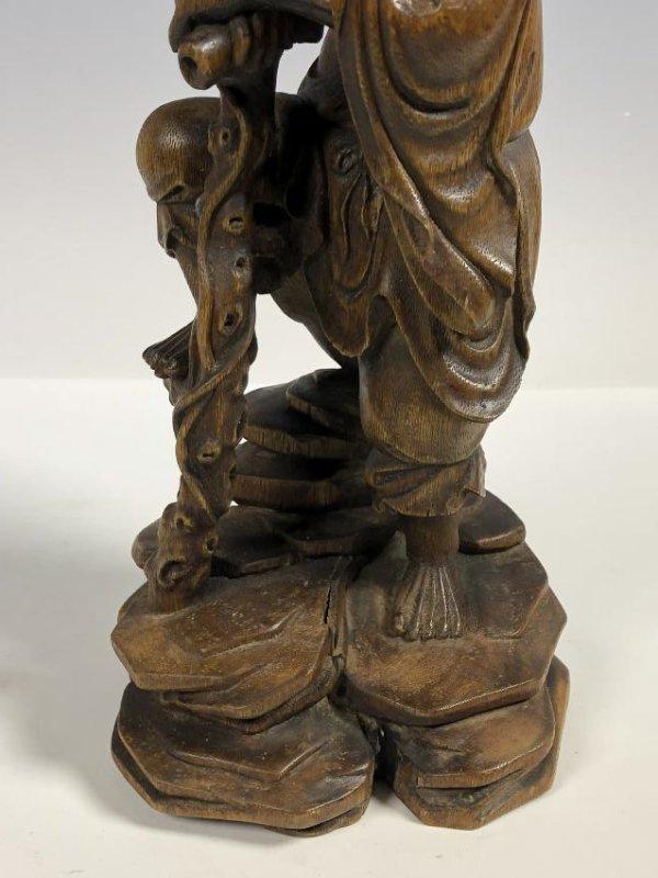Agar Wood Carving of Scholar - 3