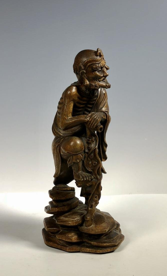 Agar Wood Carving of Scholar - 4