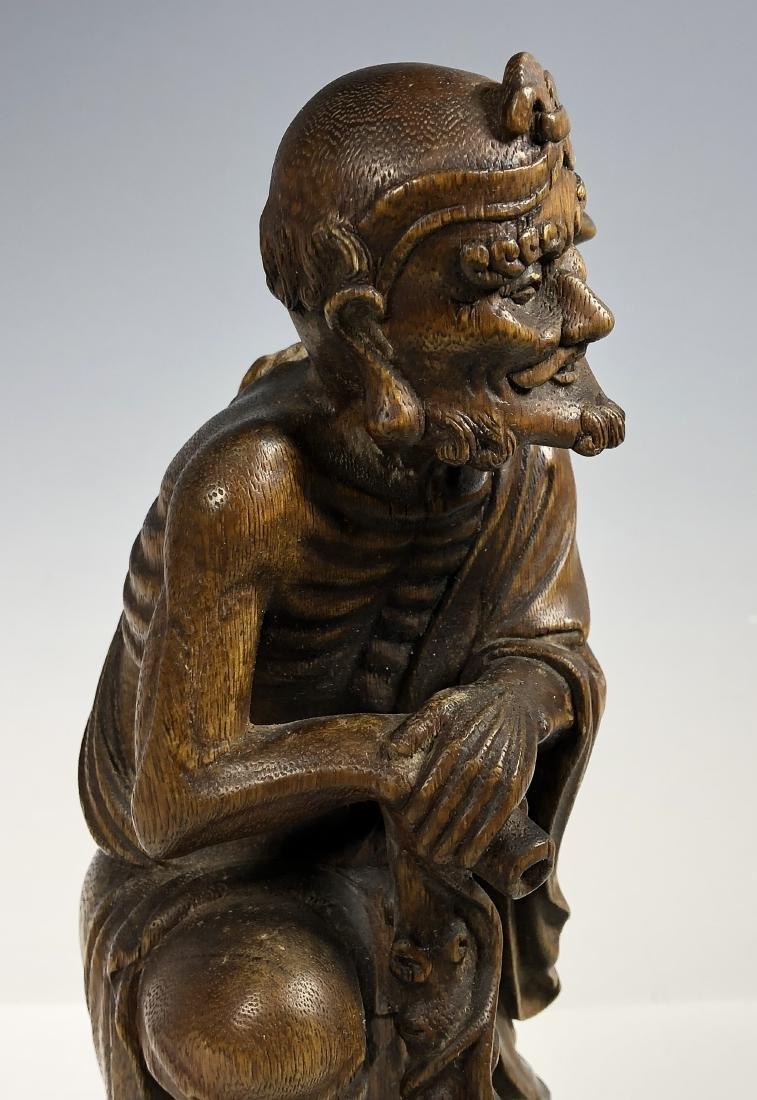 Agar Wood Carving of Scholar - 5