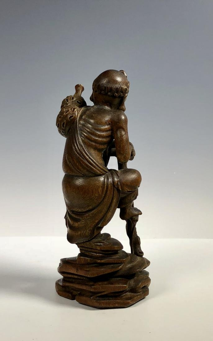 Agar Wood Carving of Scholar - 6