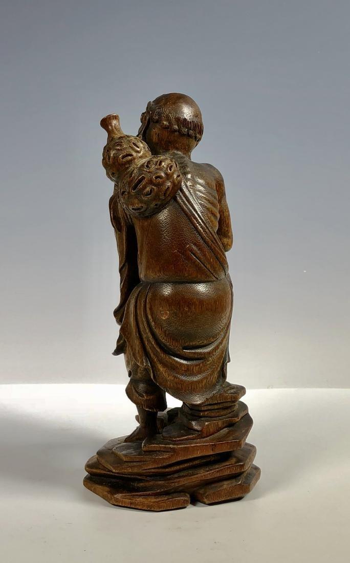 Agar Wood Carving of Scholar - 7
