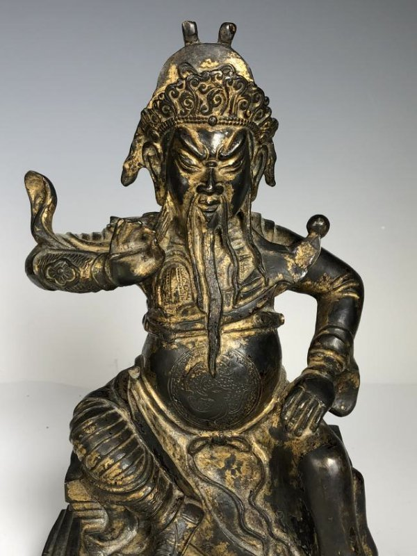 Gilt Bronze Figure of GUANYU - 2