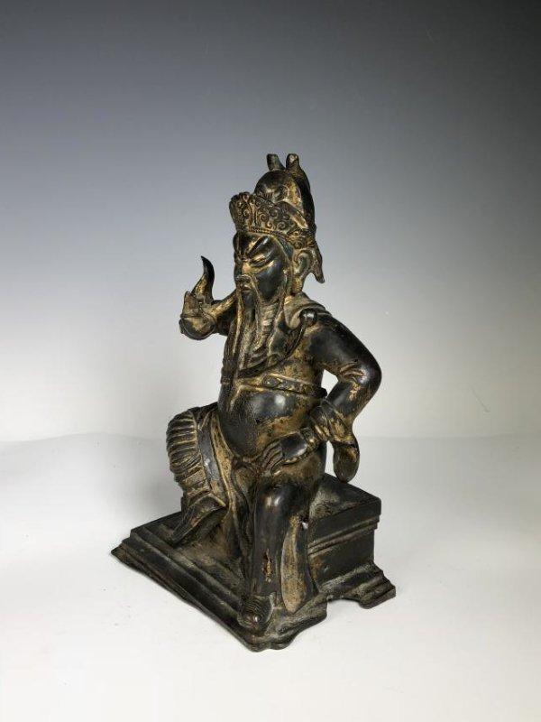 Gilt Bronze Figure of GUANYU - 3