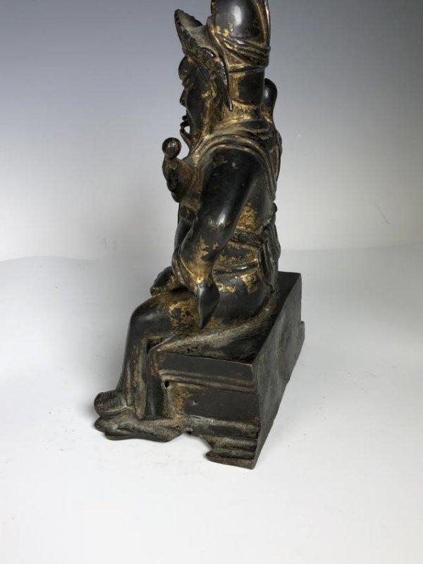 Gilt Bronze Figure of GUANYU - 4