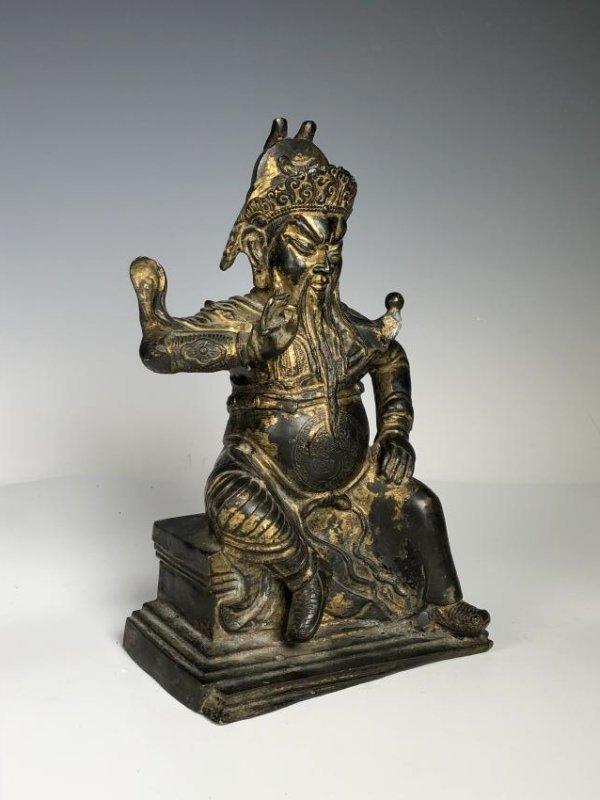 Gilt Bronze Figure of GUANYU - 8