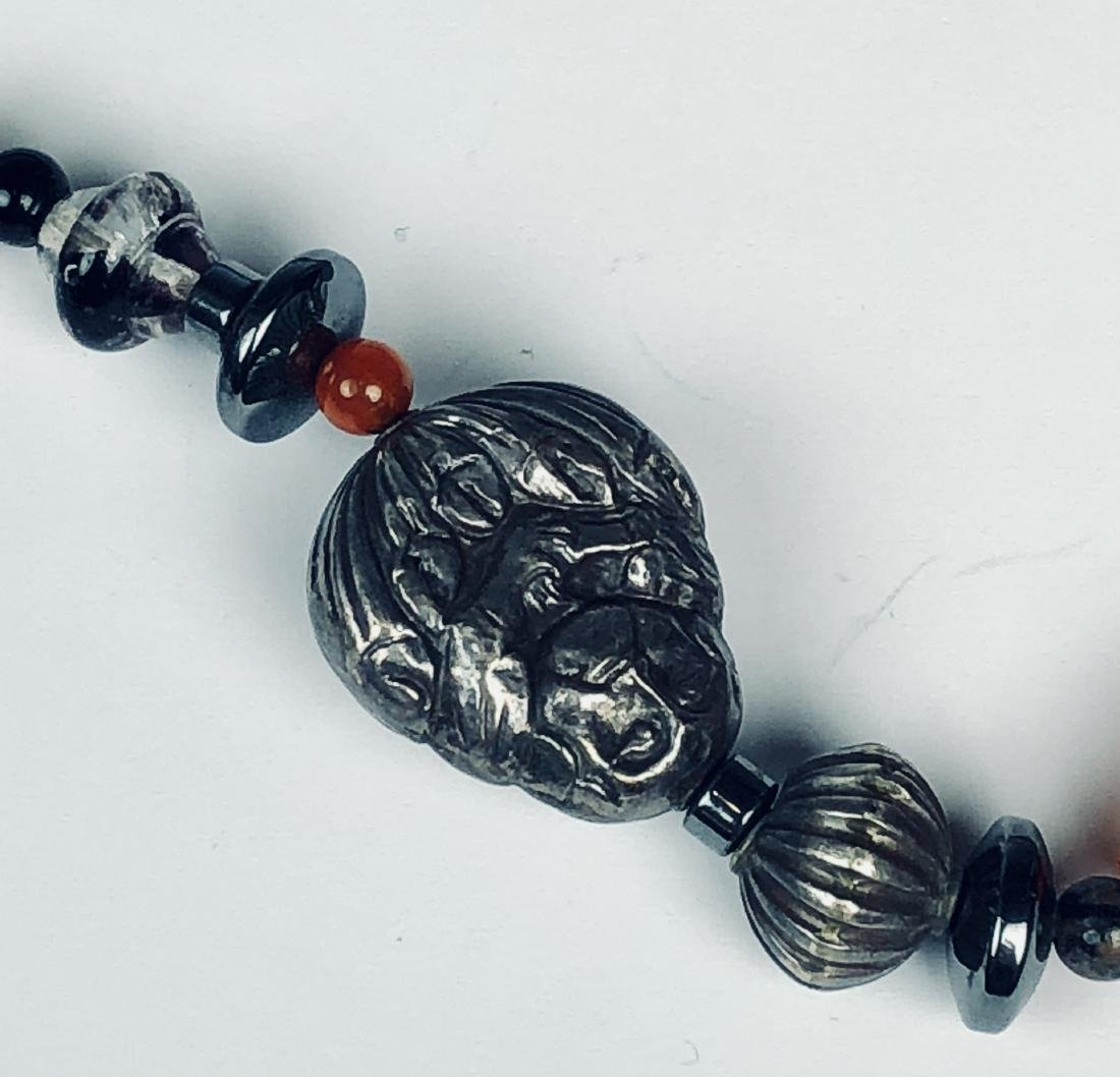 Agate and Sterling Silver Necklace - 3