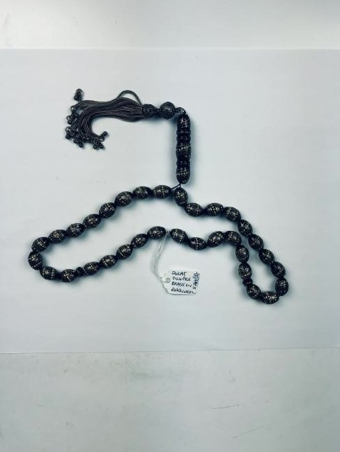 Silver on Black Coral Necklace - 6