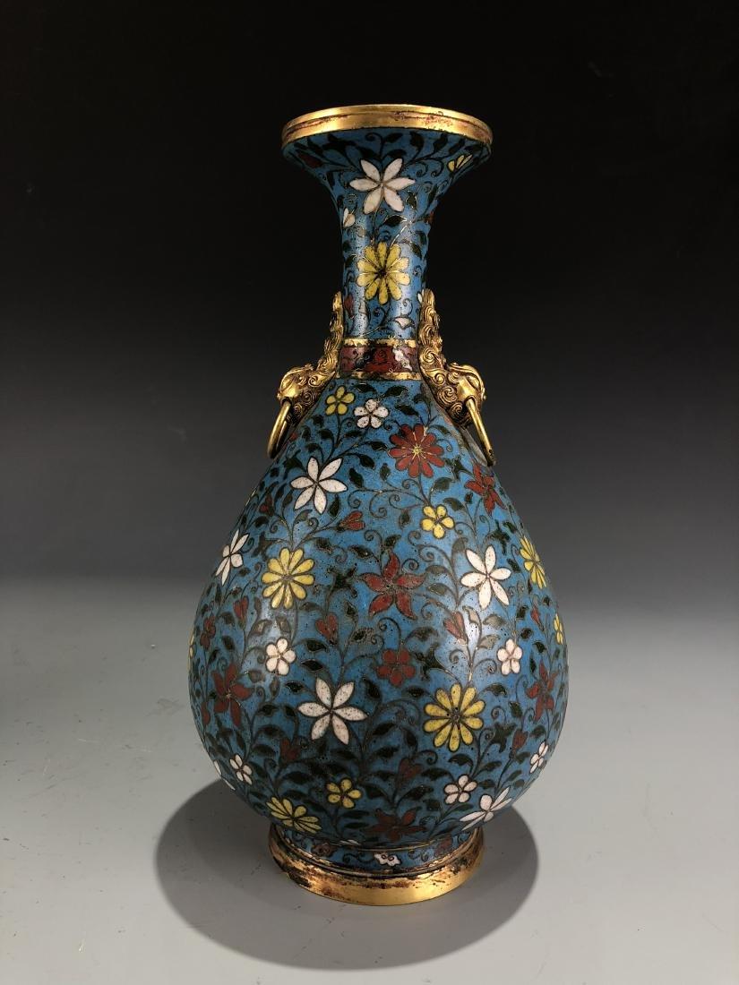 Cloisonne Enamelled Pear Vase with Mark