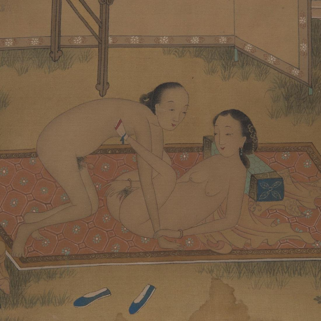 Hand Scroll Painting on Silk Signed By Chou Ying - 5