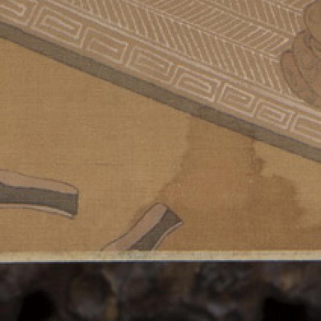 Hand Scroll Painting on Silk Signed By Chou Ying - 6