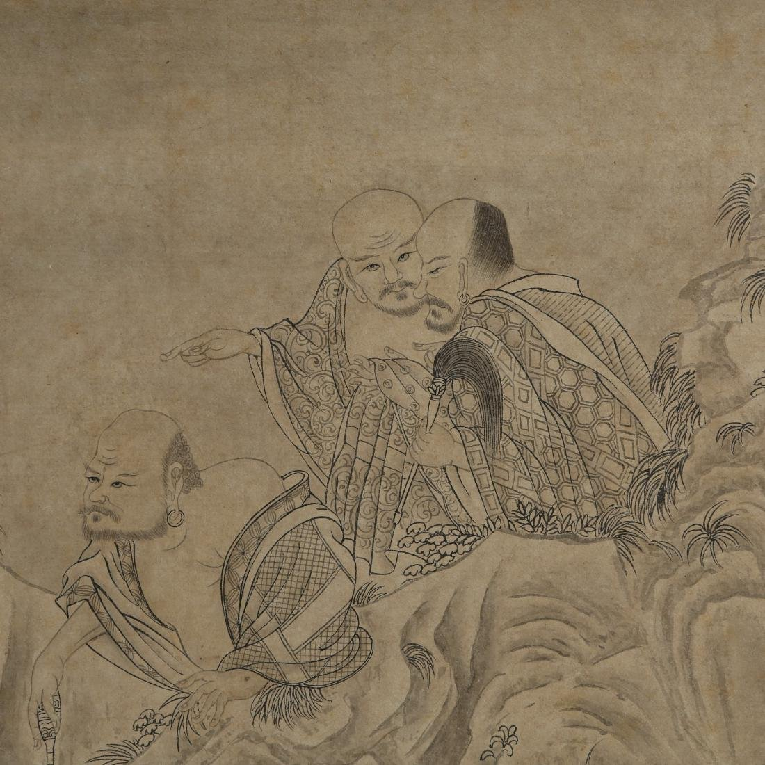 Hand Scroll Painting Signed By Jin Kun - 6