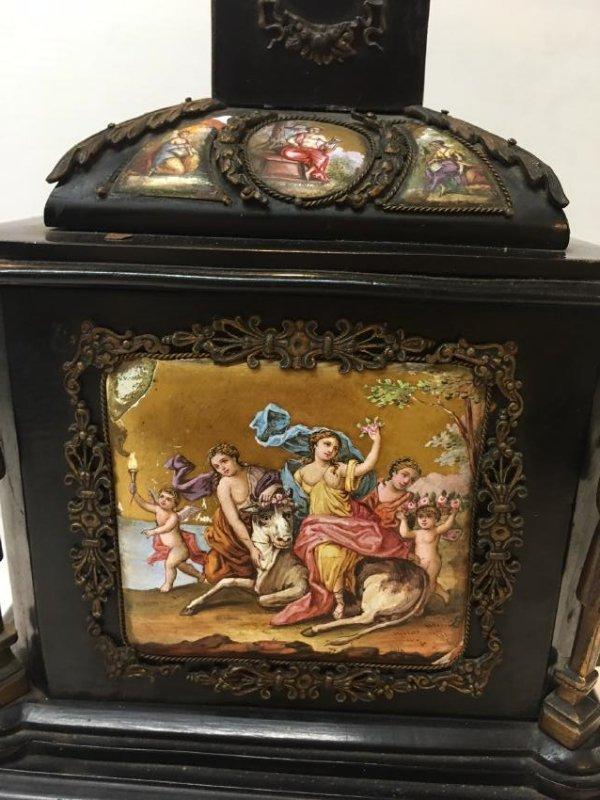 19th C. Exquisite Jewelry Box With Enamel Inlay - 12