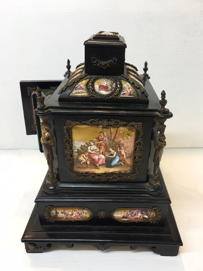 19th C. Exquisite Jewelry Box With Enamel Inlay - 14