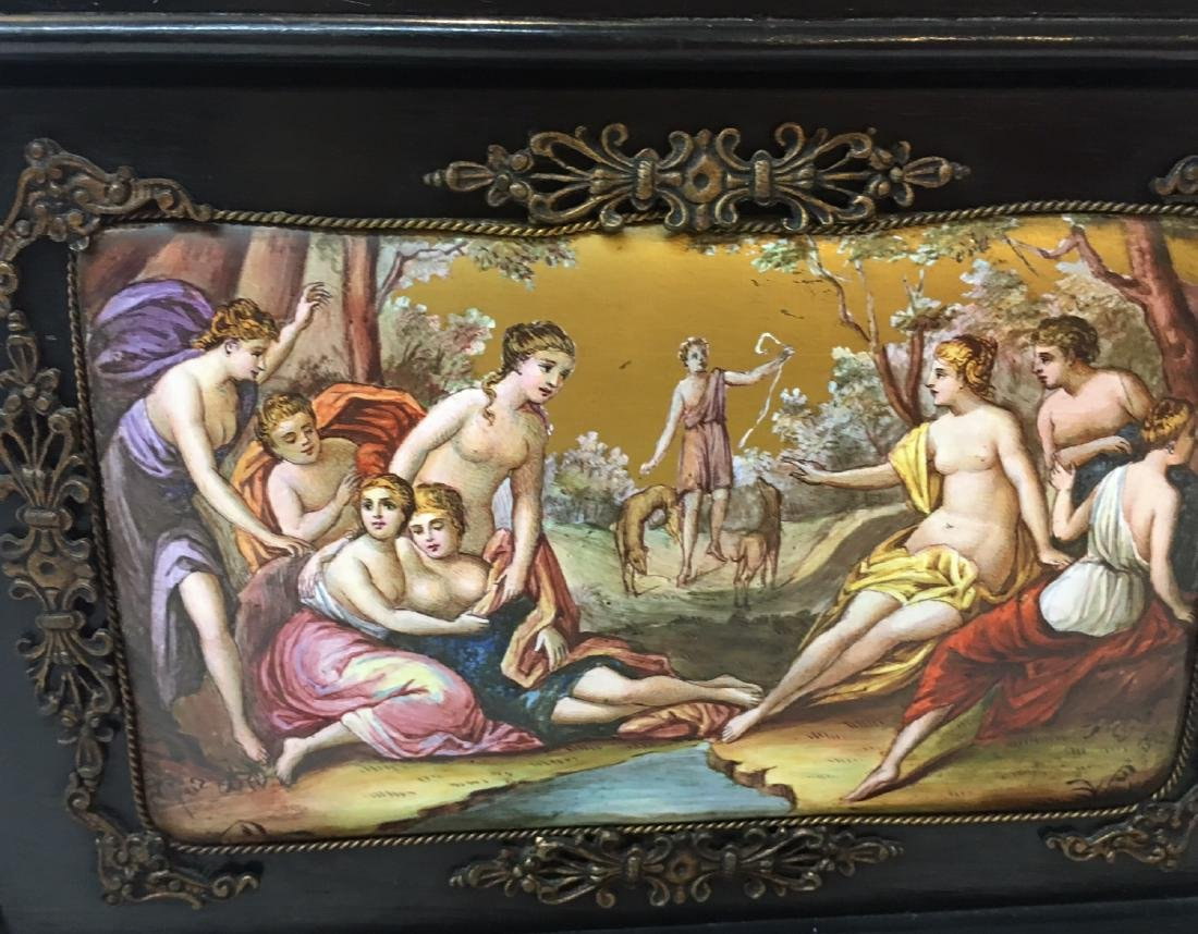 19th C. Exquisite Jewelry Box With Enamel Inlay - 16