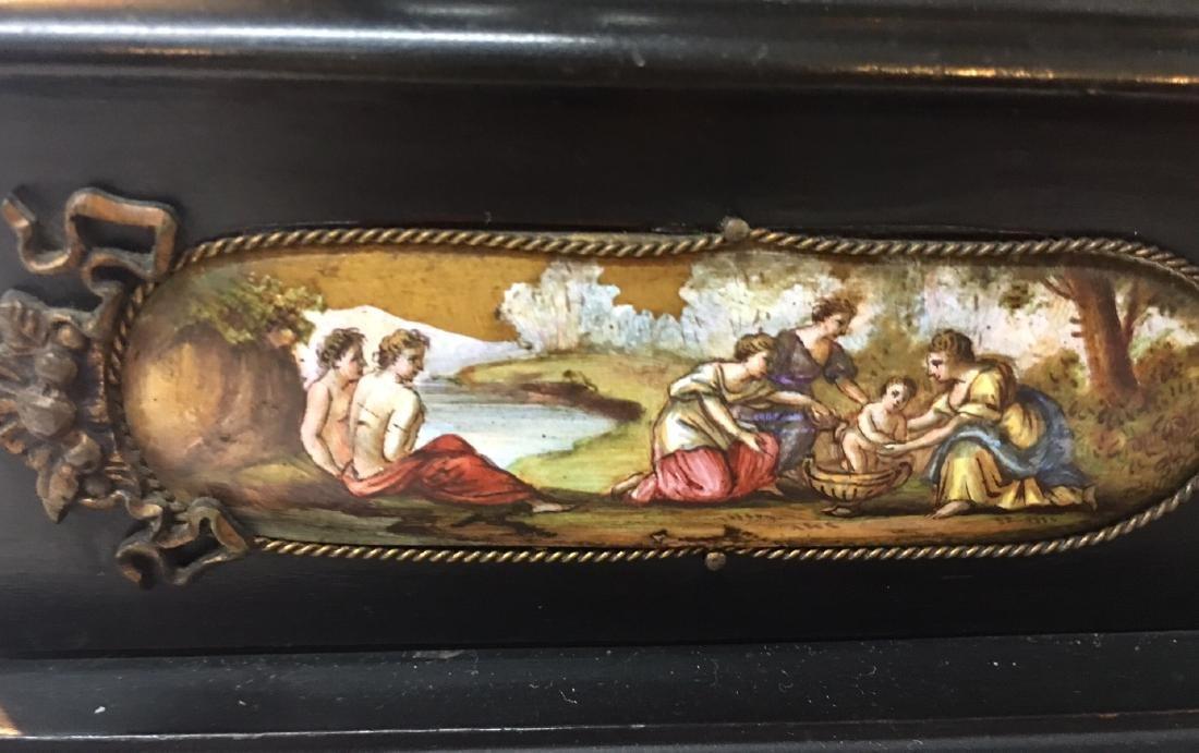 19th C. Exquisite Jewelry Box With Enamel Inlay - 18
