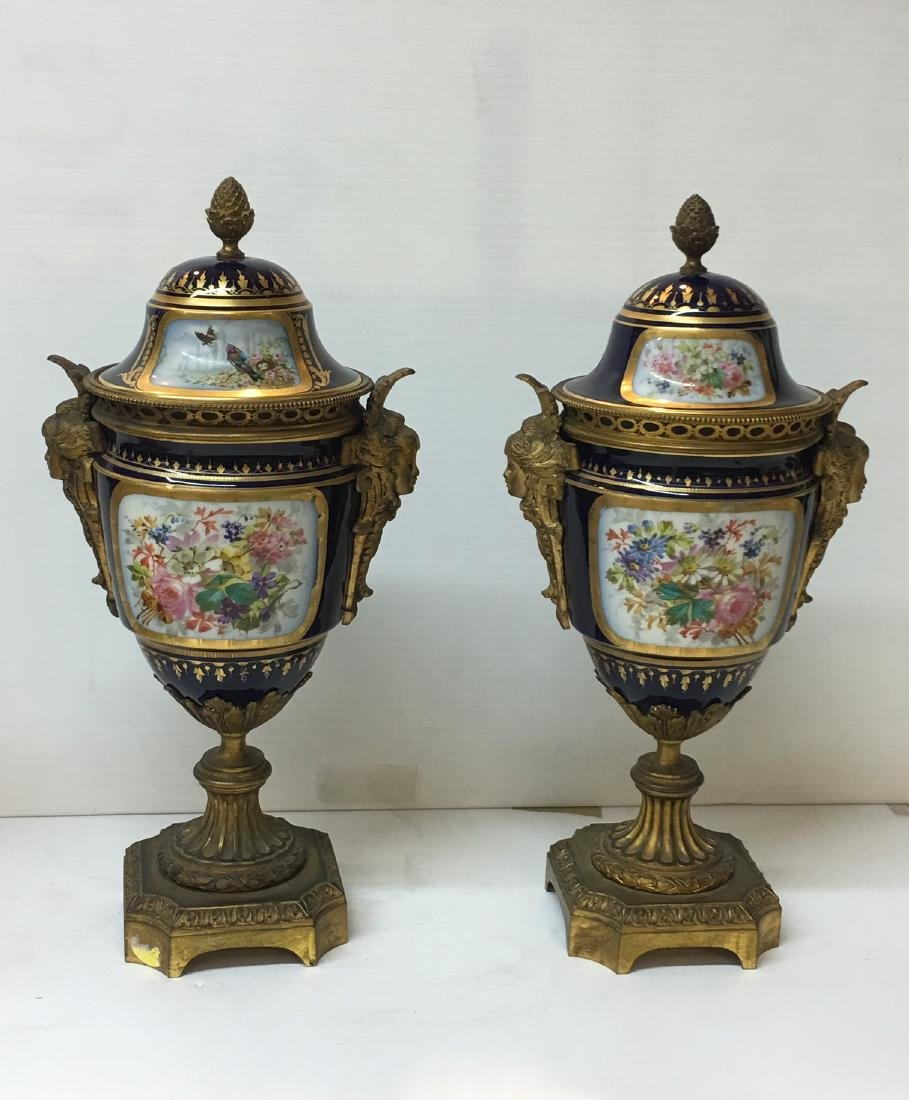 Gilt Mantel Clock with Matching Urns - 7