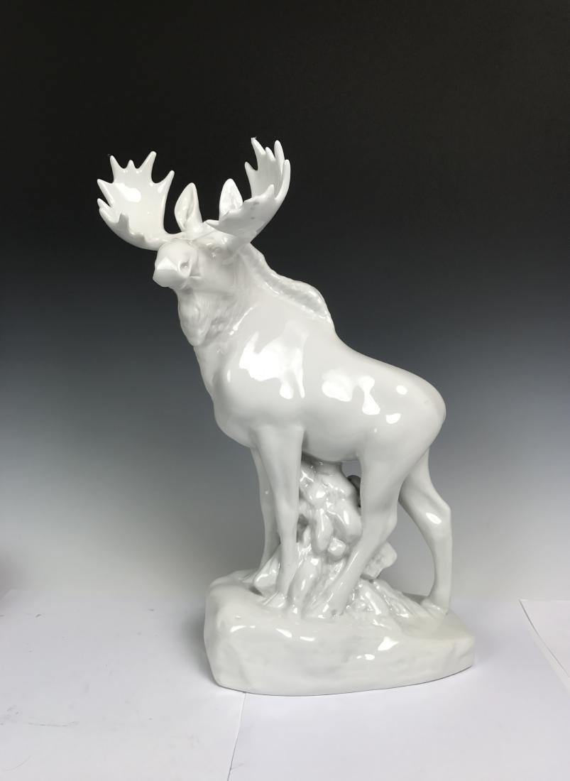 White Porcelain Moose - 10
