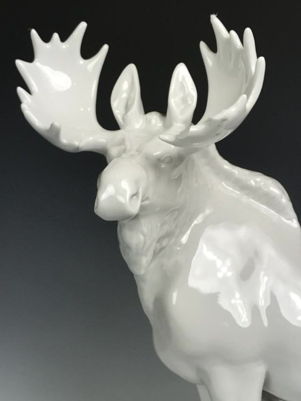 White Porcelain Moose - 11