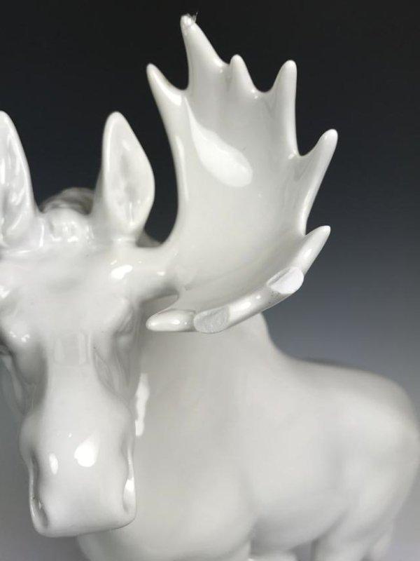 White Porcelain Moose - 15