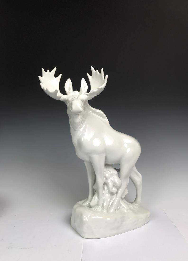 White Porcelain Moose - 2