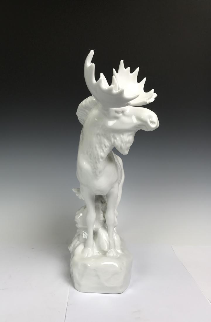 White Porcelain Moose - 5