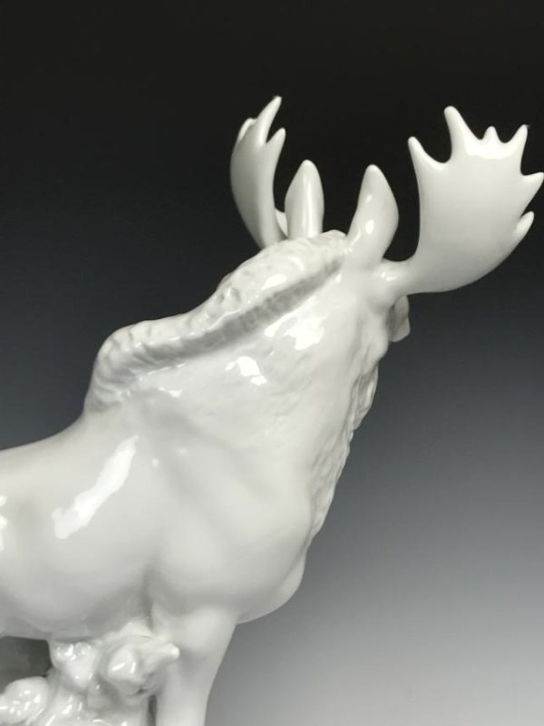 White Porcelain Moose - 8