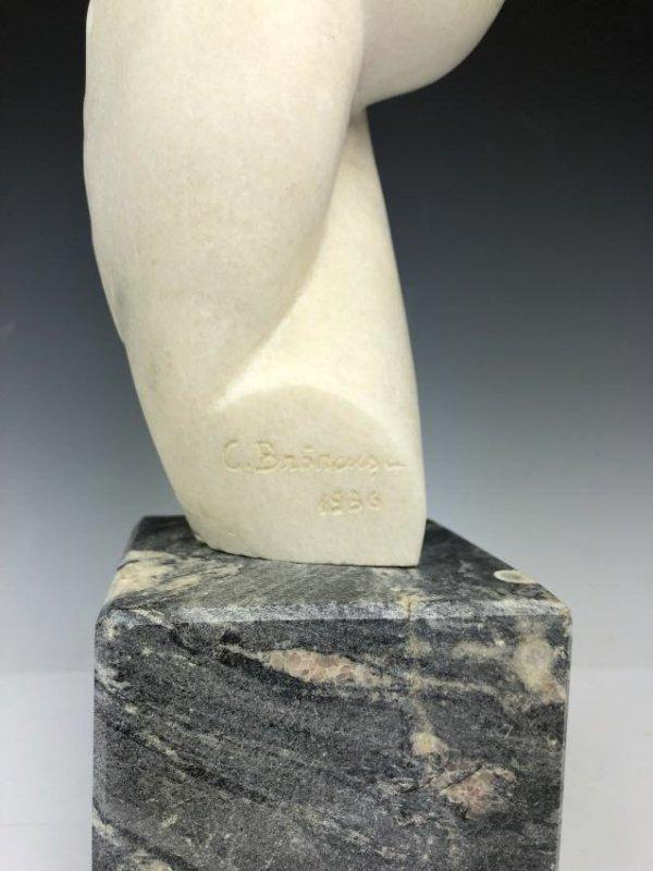 Marble Sculpture Signed C. Brancusi 1936 - 7
