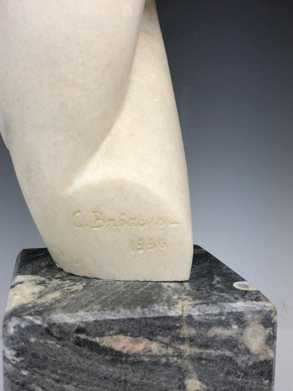 Marble Sculpture Signed C. Brancusi 1936 - 9