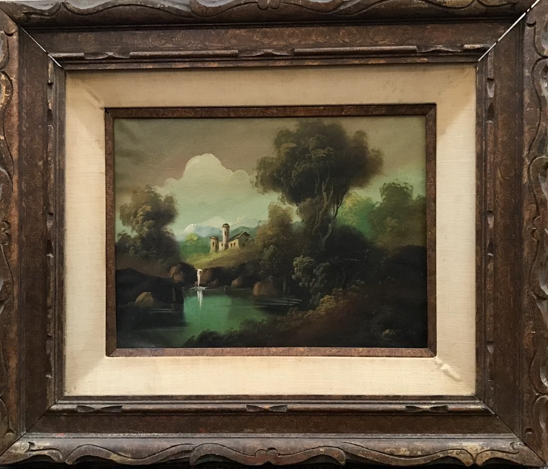 Oil on Canvas of Landscape Scene Signed