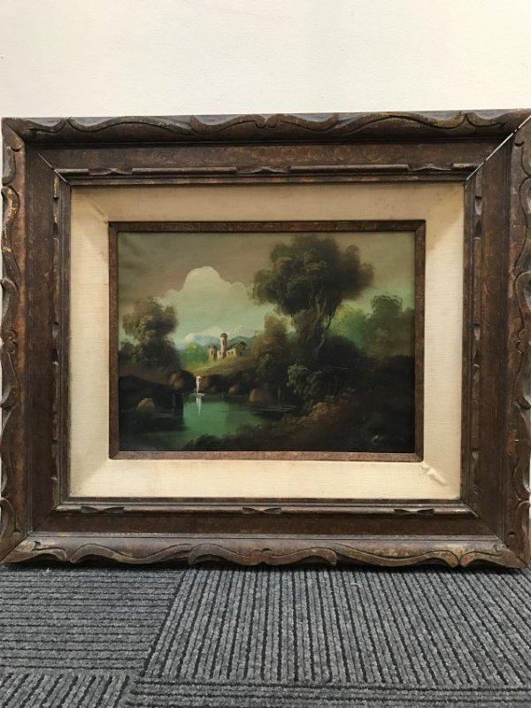 Oil on Canvas of Landscape Scene Signed - 2