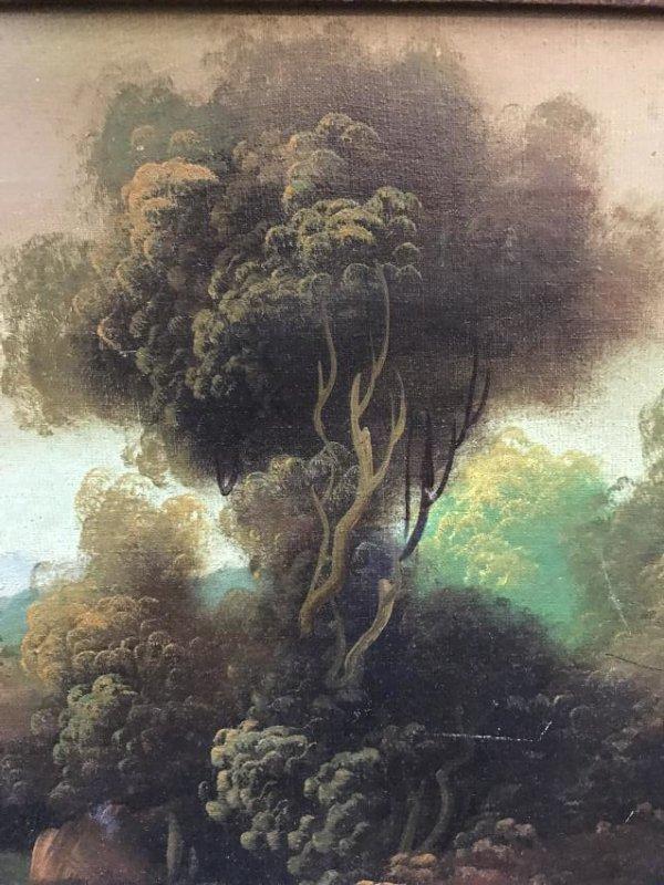 Oil on Canvas of Landscape Scene Signed - 5